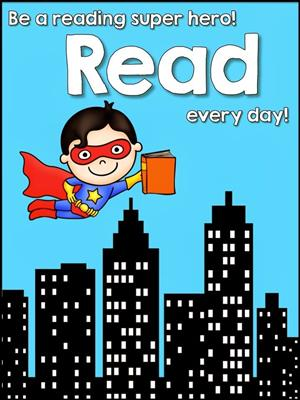 Even super heroes have to read.