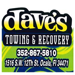 Thanks for sponsoring us, Dave's Towing and Recovery!