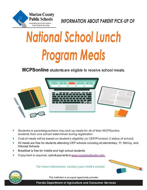 Online Students Lunch Program