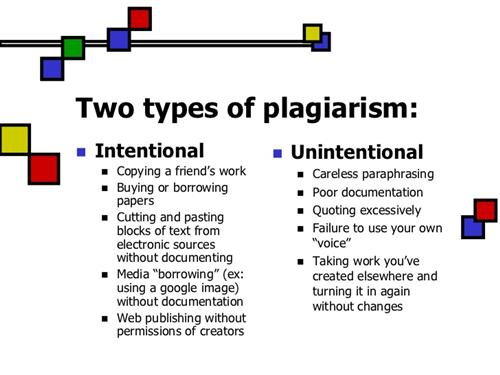Two types of plagiarism