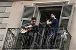music on balcony