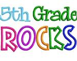 5th Grade Rocks neon clipart