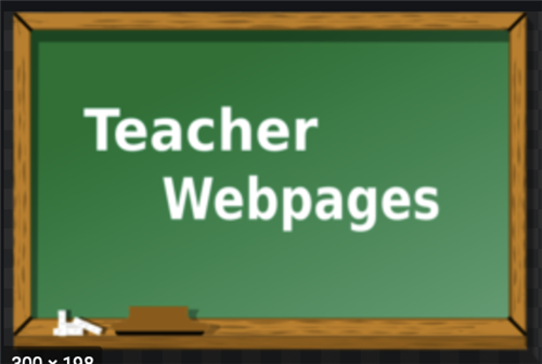 Teacher Webpage clip art