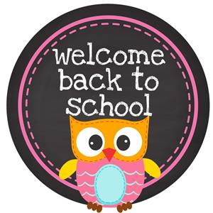 Welcome Back to School Owl clip art