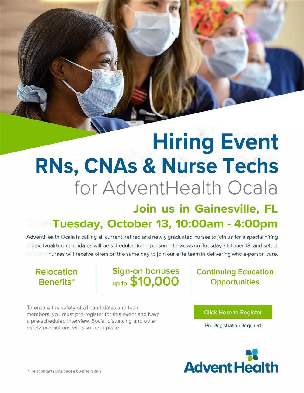 Advent Health Hiring Event