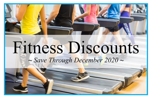 Fitness Discounts - Save Through December 2020