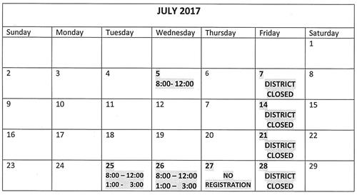 registration July17