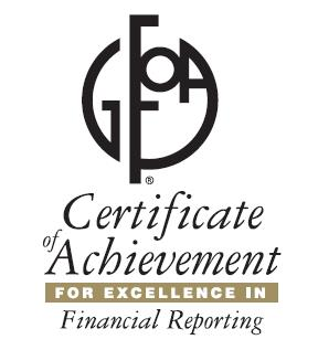 For the 19th Consecutive Year, District Finance Department Receives 'Award of Excellence'