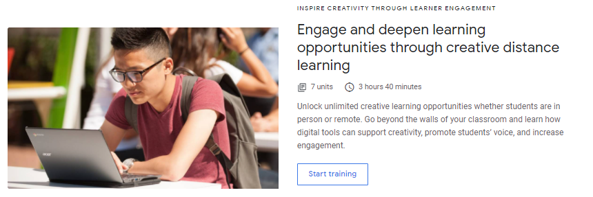 Engage and Deepen Learning Opportunities Through Creative Distance Learning