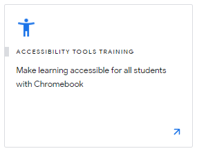 Accessibility Tools Training
