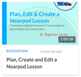Plan, Create and Edit a Nearpod Lesson
