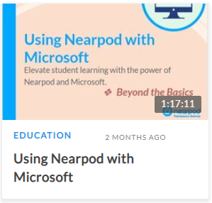 Using Nearpod with Microsoft
