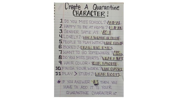 Create Your Own Quarantine Character