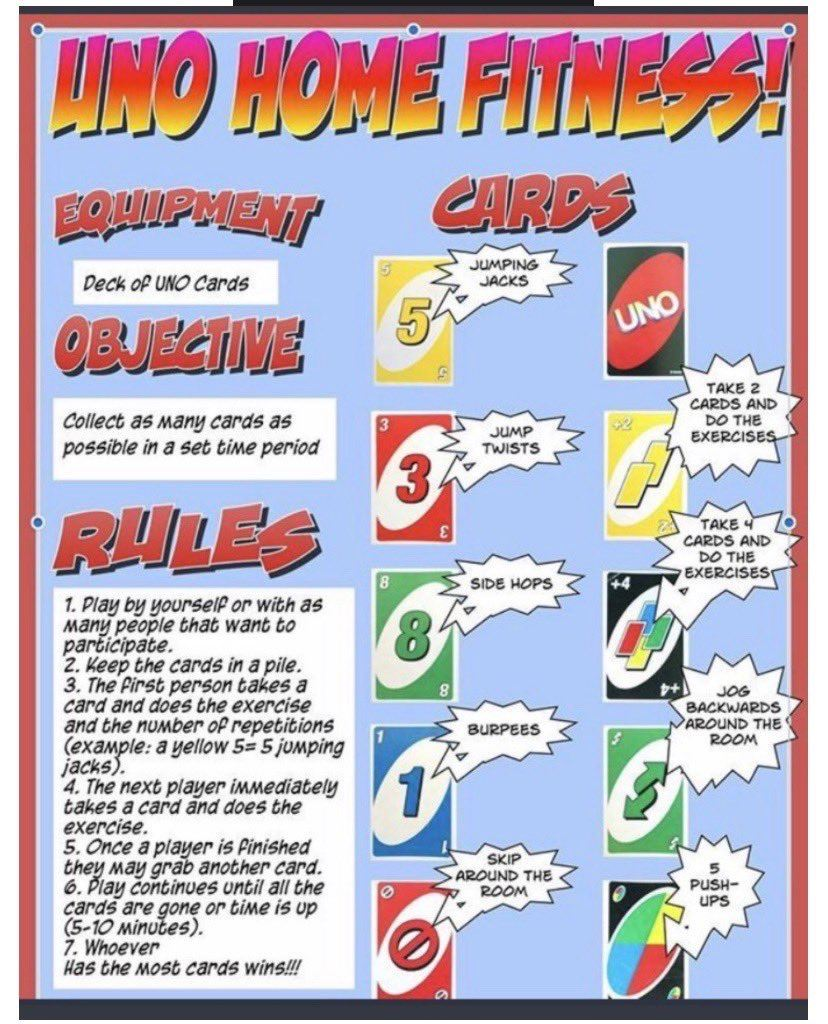 Uno fitness game