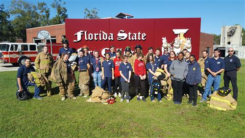 First Responder students at the Florida State Fire College.