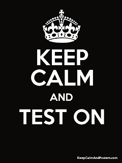 keep calm, test on