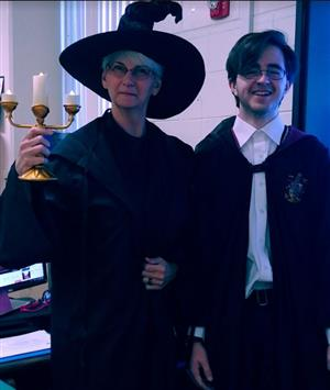 Mrs Scherer McGonagal with Harry Potter