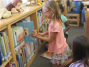 Picture of students enjoying their school library