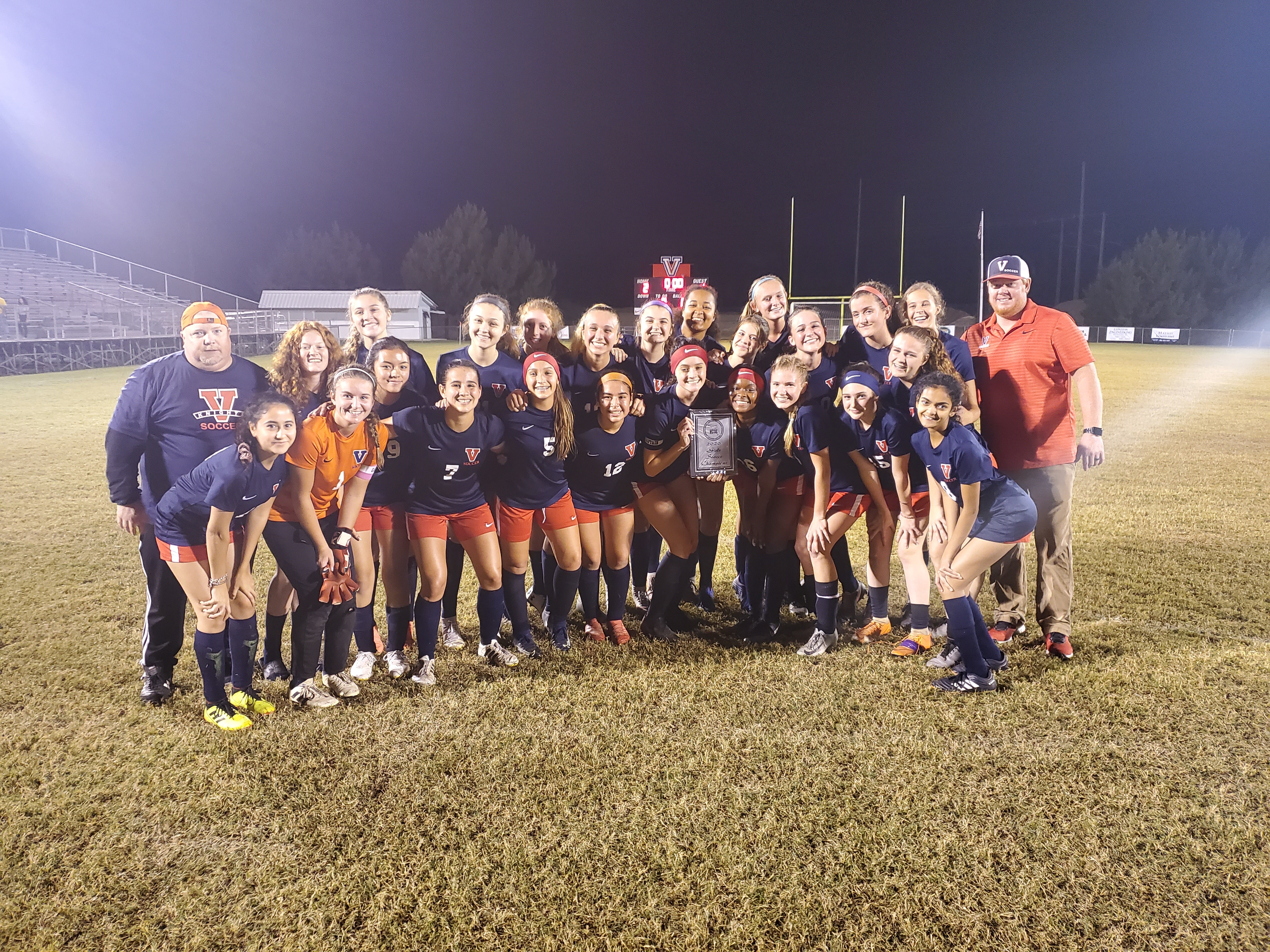 2019-20 Vanguard Highschool Girls Soccer team