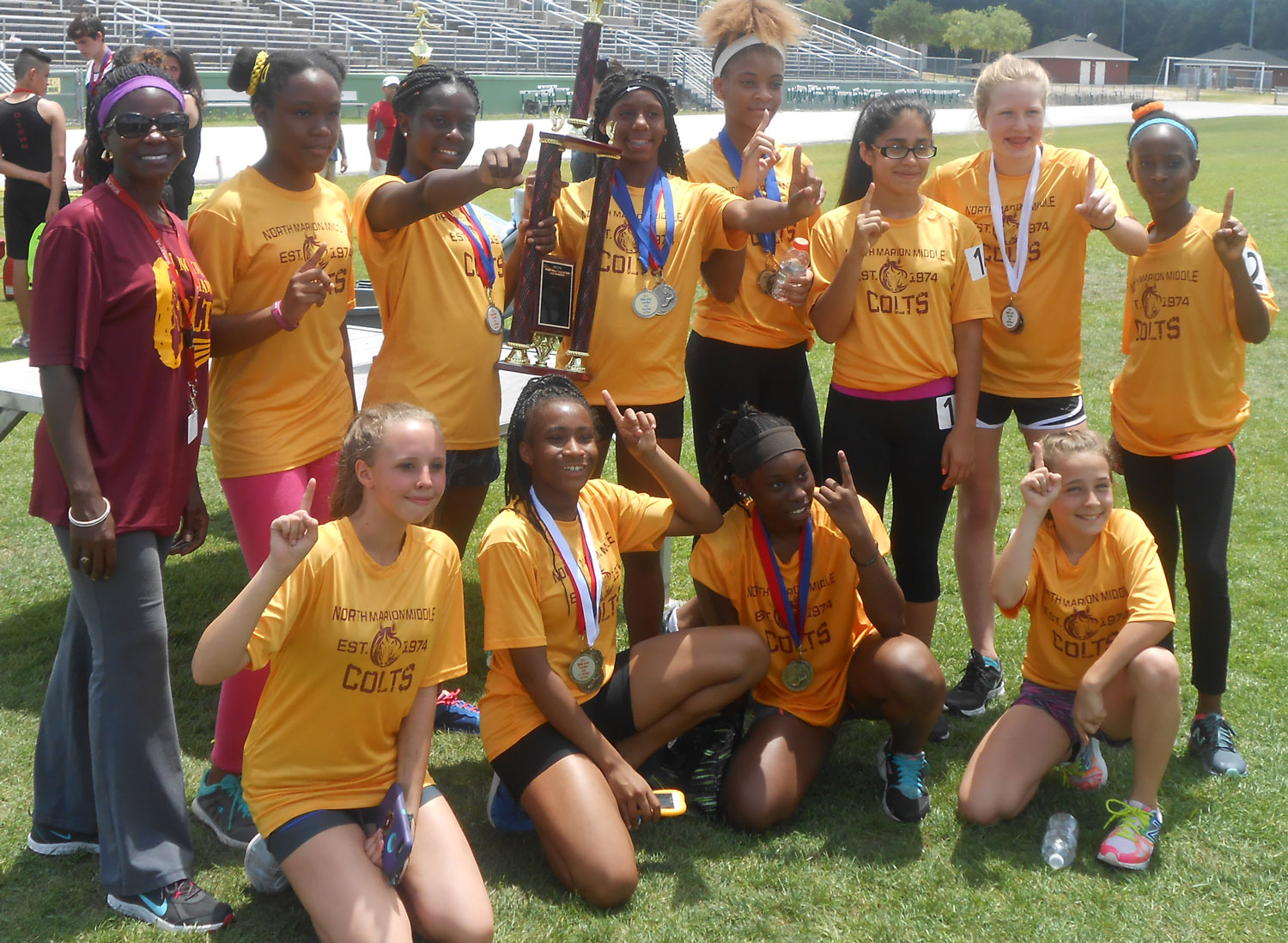 Female Track Champions NMMS 2017