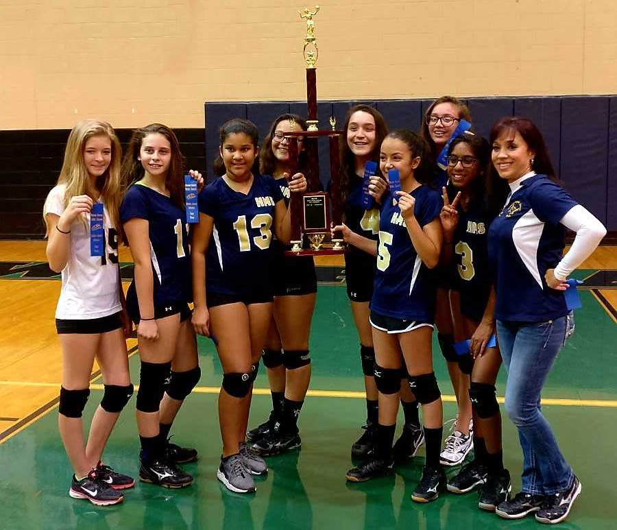 2017 Howard Middle School Volleyball Champs (Female)