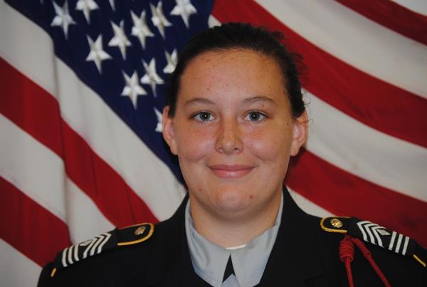FIRST SERGEANT, ECHO COMPANY, 1ST BN  C/1SG Madison Hensley