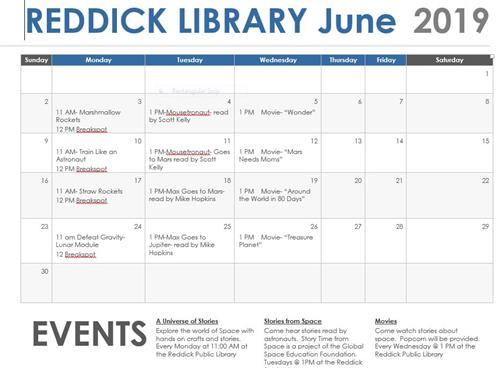 Library Schedule SUMMER