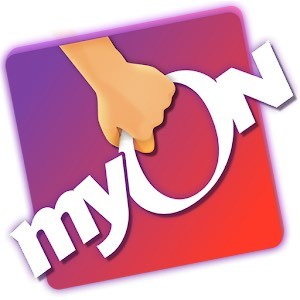 a picture of the myON logo