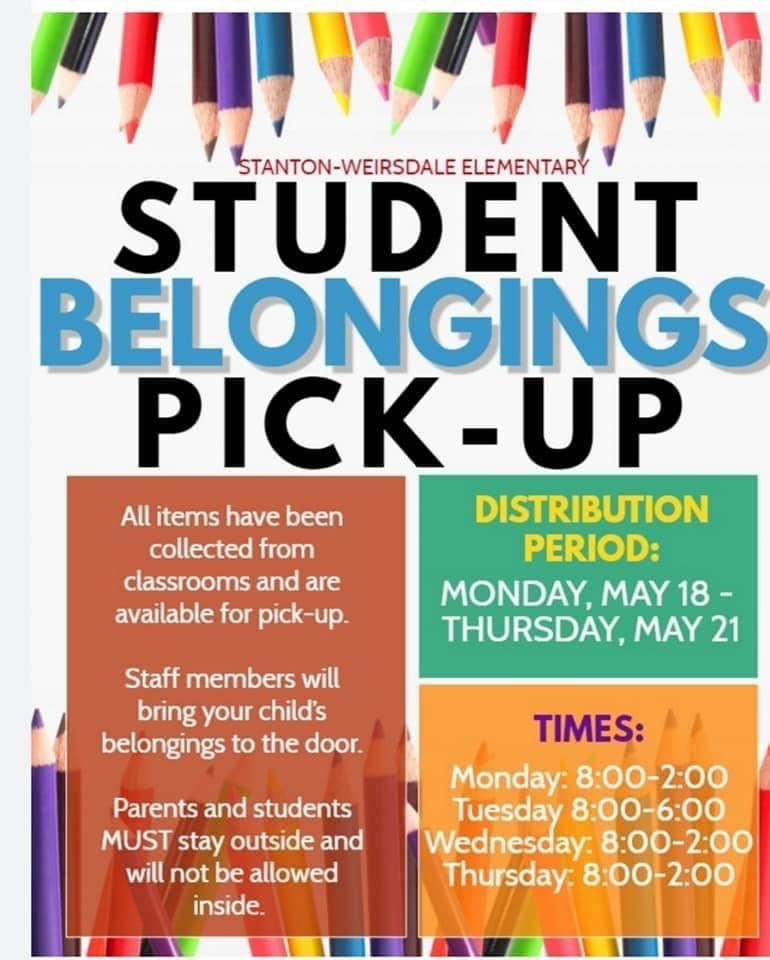 Student Belong Pick up Times