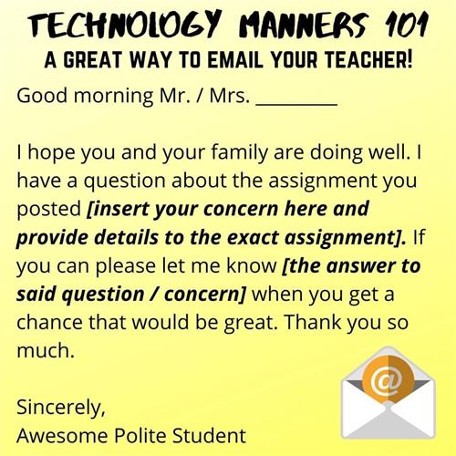 A great way to email your teacher!