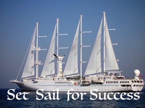 Sailboat, captioned Set Sail for Success