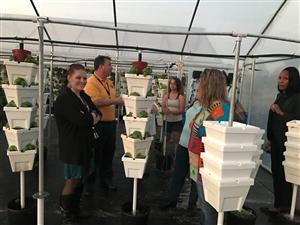PTO Taking a Tour of Horizons Aquaponics & Agriscience