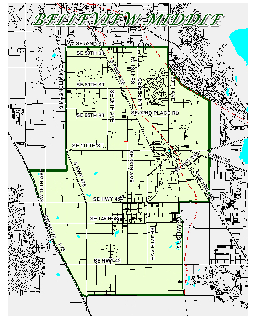 Zoning Boundary Map / Home - Belleview Middle School