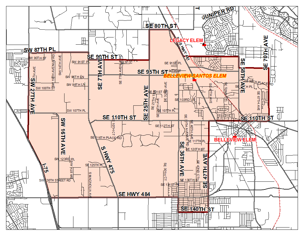 Zoning Boundary Map / Home - Belleview-Santos Elementary School