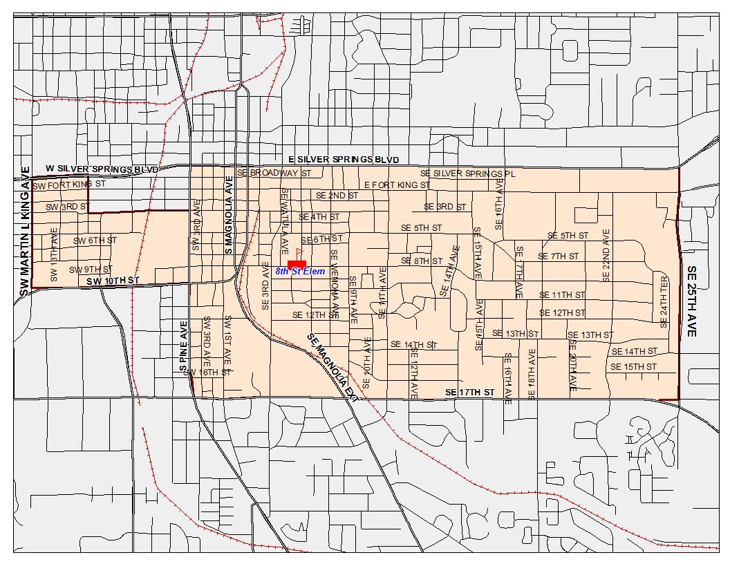 Zoning Boundary Map / Home - Eighth Street Elementary School