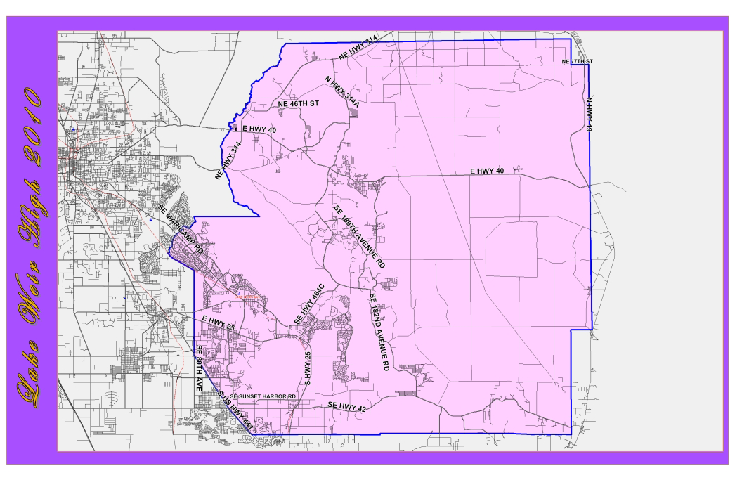 Map Of Florida School Districts.Zoning Boundary Map Home Lake Weir High School