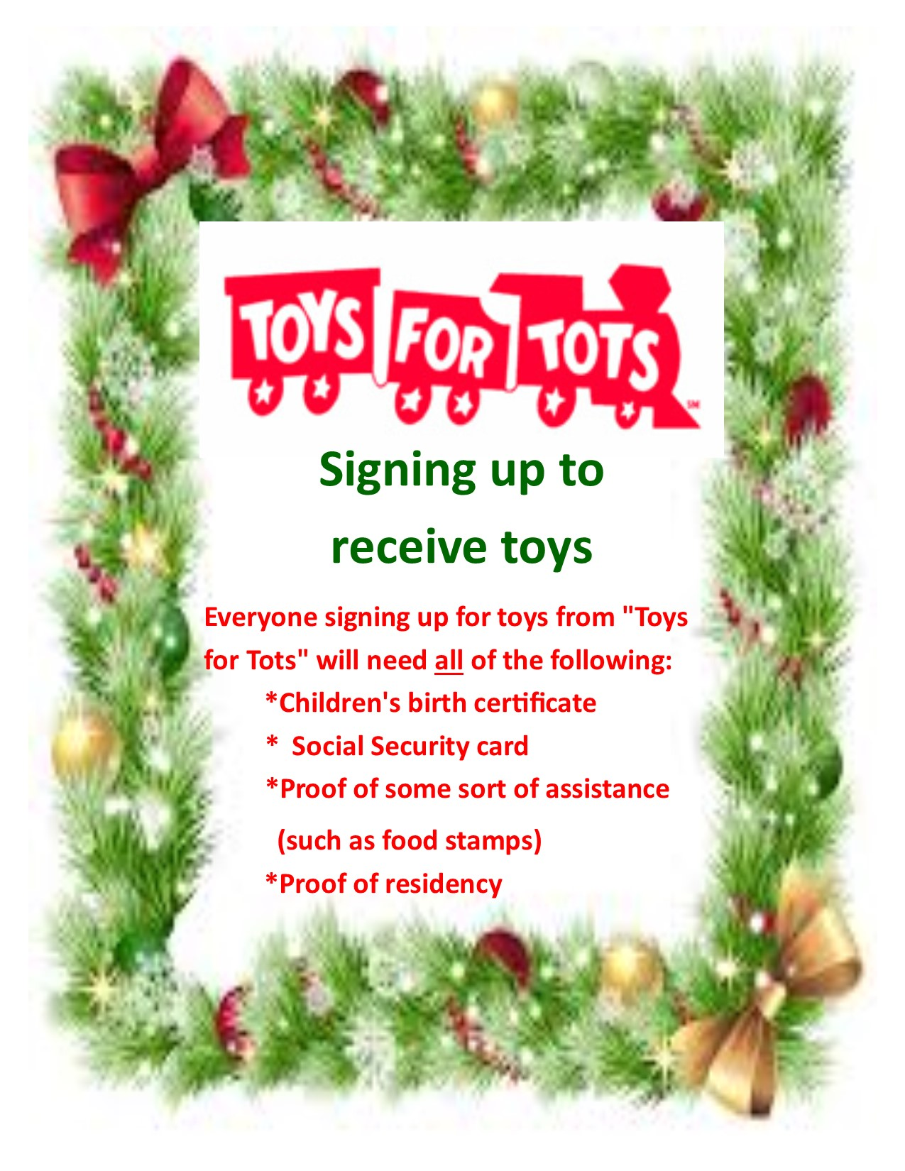 Toys For Tots Pickup : Liberty middle school homepage